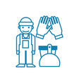 on-call cleaner linear icon concept on-call vector image vector image