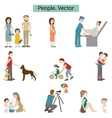 People Set of elements vector image vector image