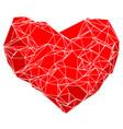 poly heart shape vector image