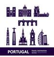 portugal travel destination vector image vector image
