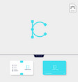 premium initial c logo template and business card vector image vector image