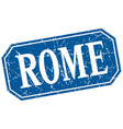 rome blue square grunge retro style sign vector image vector image