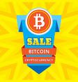 sale bitcoin blockchain cryptocurrency - creative vector image