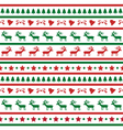Seamless Christmas background22 vector image vector image