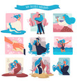 secret dreams womans fantasies isolated icons vector image
