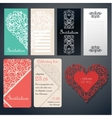 Set of invinanion cards vector image vector image