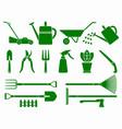 set stylized garden tools vector image
