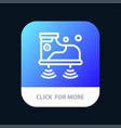 shoes wifi service technology mobile app button vector image