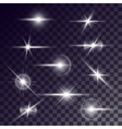 star lighting effects vector image