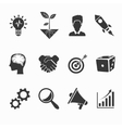Startup and creative icons vector image