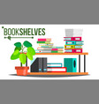 storage shelves document book colored vector image