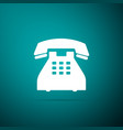 telephone icon isolated on green background vector image vector image