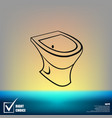 toilet - icon vector image