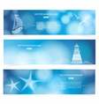 Travel and Nautical - blue awesome banners vector image