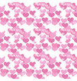 valentines day seamless pattern heart endless vector image vector image