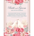 Wedding invitation with white doves vector image vector image