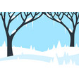 winter landscape with trees and fields covered vector image vector image