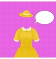 Woman dress with hat temlate without head vector image vector image