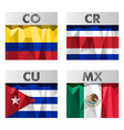 flags in polygonal style vector image