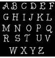 abc Silver Font vector image