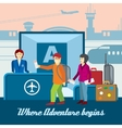 Airport background in flat style Travel vector image vector image