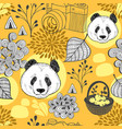 autumn in china seamless pattern vector image vector image