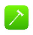 big ax icon digital green vector image vector image