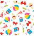 birthday pattern vector image vector image