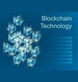 blockchain concept slider banner design vector image vector image