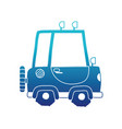 blue silhouette tractor farm vehicle plant vector image