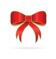 bow happiness red vector image vector image