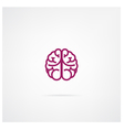 brain sign vector image vector image