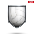 Bright shield in the volleyball ball inside vector image vector image