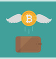 brown wallet with bitcoin cash concept for vector image vector image