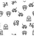 car theft seamless pattern vector image vector image