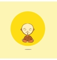 cartoon buddhist monk vector image