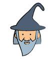 cartoon wizard icon image vector image vector image