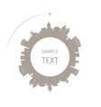 city in circle and a plane around space for text vector image