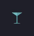 cocktail computer symbol vector image