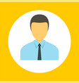 company manager icon flat style vector image