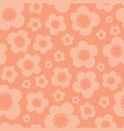 cute peach flowers seamless pattern vector image vector image