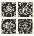 Damask seamless patterns vector image