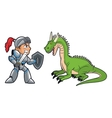 Dragon warrior and videogame design vector image vector image