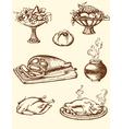 Drawing vintage food vector image