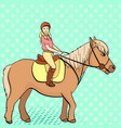 equestrian sport for children isolated on pop art vector image vector image