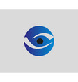 Eye vision logo design template Eye icon vector image