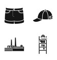 Fashion oil refining and or web icon in black vector image