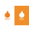 fire logo combination unique torch logotype vector image