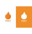 fire logo combination unique torch logotype vector image vector image