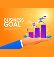 flat business people climbing up the stairs vector image